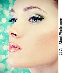 pastel, makijaż