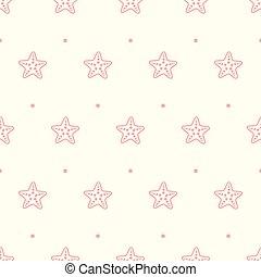 pastel, modèle étoile mer, seamless, vecteur, mer