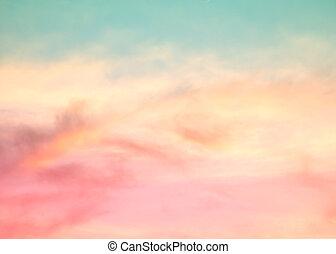 pastel, nuage, ciel, arrière-plan coloré