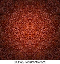 pastel, ornament?, encaje, marrón