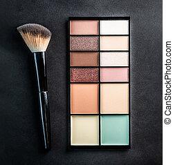 Pastel palette of eyeshadows