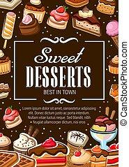 pastel, panadería, tienda, pasteles, postres, dulce