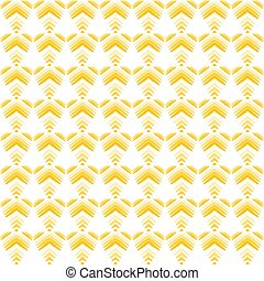 Pastel pattern of yellow hearts and flowers on a white background.