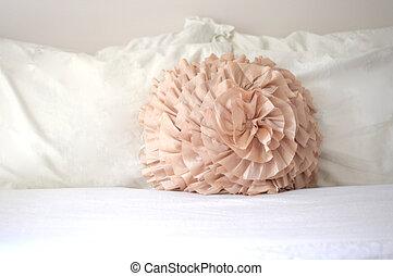 Pastel Peach Decorative Pillow