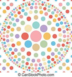 pastel, piłka, abstrakcyjny, seamless, b, kropka