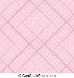 Pastel pink fabric diamond seamless pattern