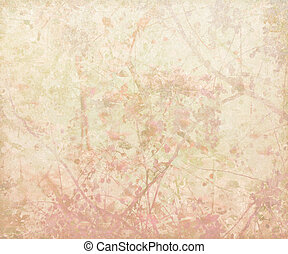 Pastel Pink Tangled Blossom Art