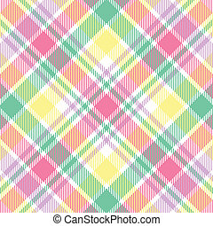 A plaid background pattern in pastel colors