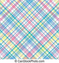 Pastel Plaid - A plaid background pattern in pastel colors