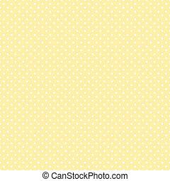 pastel, polca, seamless, amarillo, puntos