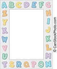 Pastel Polka Dot Alphabet Frame