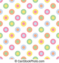 Pastel Polka Dots - An illustration of pastel colored polka...