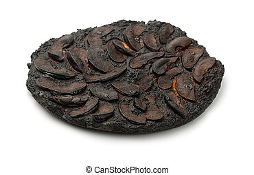 pastel, quemado