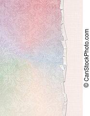 pastel rainbow damask