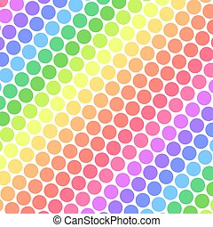 Pastel Rainbow Polka Dots - Pastel rainbow colored polka...