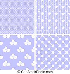 Pastel retro different vector seamless patterns