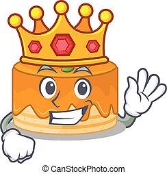 pastel, rey, etapa, mascota, realizado, diseño, caricatura, ...