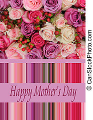 Pastel rose mother's day card