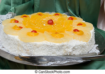 pastel, sabroso