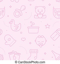 Pastel Seamless Baby Pattern