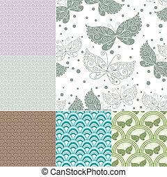 pastel, seamless, collection, motifs