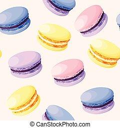 pastel, seamless, macarons