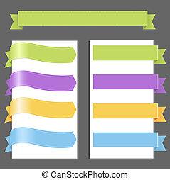 pastel, set, linten