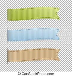 pastel, set, linten, web