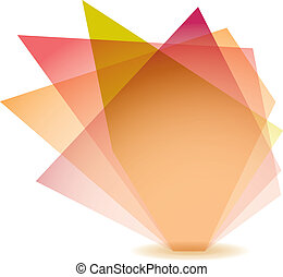 Pastel shard - Pastel shade shard with glass elements and ...