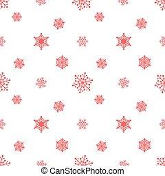 pastel, snowflake blanc, fond, rouges