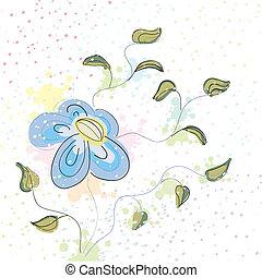 Pastel spring flower