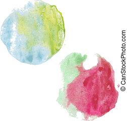Pastel Stain Set, Vector Illustration