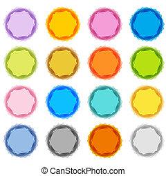 pastel, starburst, ensemble, flou