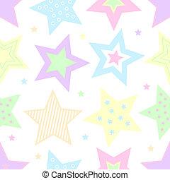 pastel, stjerner