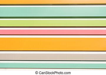 Pastel streaks striated - helle und bunte Farben...