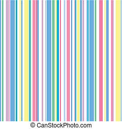 Pastel Stripe Pattern - An illustration of bright pastel...