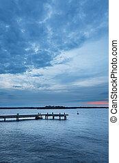 Pastel sunset over Swedish coast