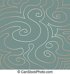 Pastel Swirls Pattern on Duck Egg Blue