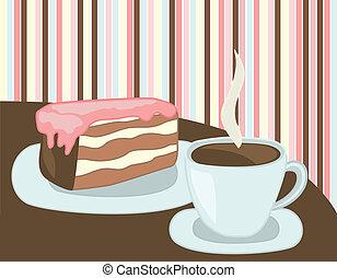pastel, taza para café