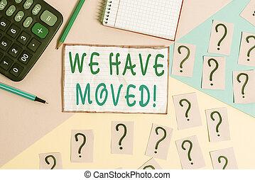 pastel, tener, ir, volver a poner, residencia, escritura, o...