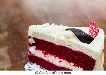 pastel, terciopelo, rojo