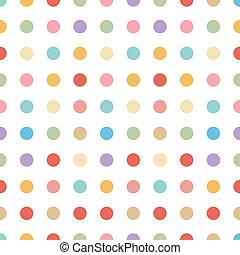 pastel, vect, ponto, seamless, fundo