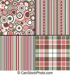 pastel, (vector, komplet, eps, seamless, wzory, 10)