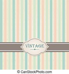 Pastel vintage frame. Vector illustration.