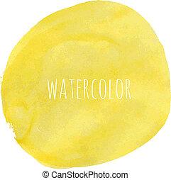 Pastel Watercolor Blob, Vector Illustration