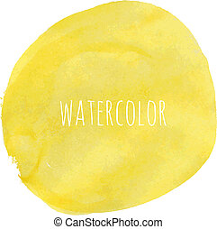 Pastel Watercolor Blob, Vector Illustration