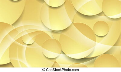 Pastel yellow glossy abstract circles tech corporate motion ...