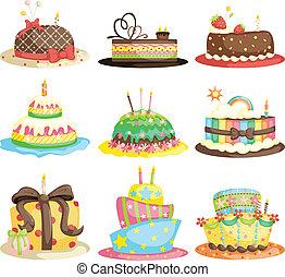 pasteles, cumpleaños