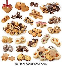pasteles, navidad, colección