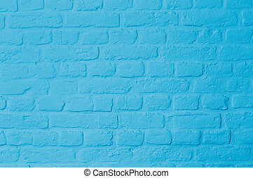 Pastell bright blue colored brickstone wall - Brickstone...